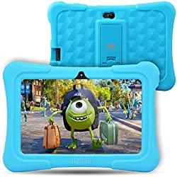 Dragon Touch Y88X Plus - Tablet Infantil de 7 Pulgadas ( SO Android Lollipop , 178° Vista Pantalla , 8G , Funda Alta Protección para Niños con Soporte ) Incluye Kidoz Versión Desbloqueada Pre-instalado , Azul [ 2017 Modelo Nuevo ]
