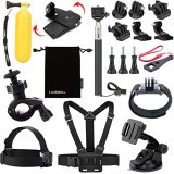 Luxebell-18-in-1-Accessories-Kit-for-Lightdow-LD4000-LD6000-1080P-HD-Sports-Action-Camera-Selfie-Stick-Floating-Grip-Suction-Cup-Mount-Chest-Head-Wrist-Mount