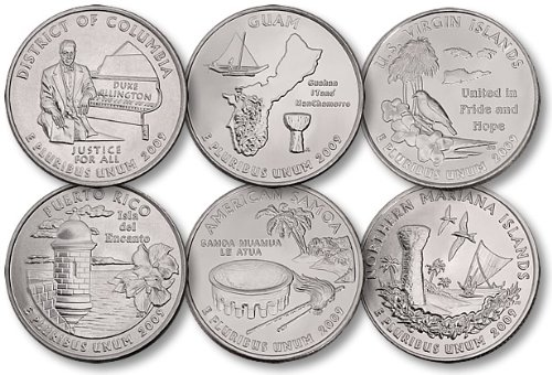 All 6 United States 2009 P Mint District of Columbia & U.S ...