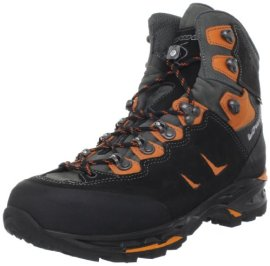 Lowa Men's Camino GTX FreeFlex Hiking Boot,Black/Orange,9.5 M US