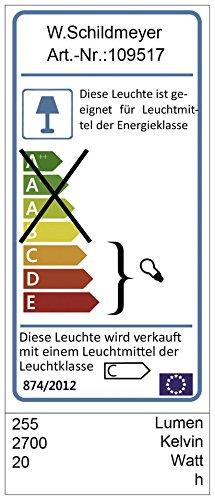 Energieeffiziensklassen des Schildmeyer Verona Spiegelschrankes.