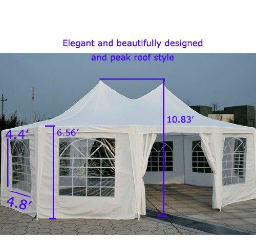Extra Large Carport Heavy Duty Decagonal Wedding Party