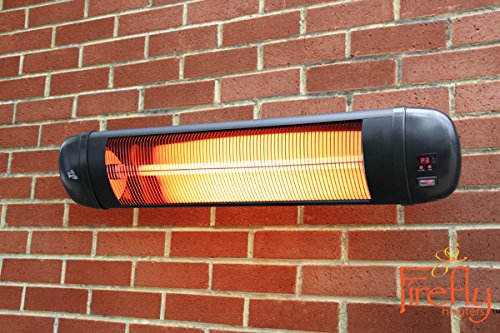 51vLJRPIqlL - BEST BUY #1 Firefly 2kW Adjustable Garden Outdoor Wall Mounted Patio Heater with Remote Control