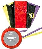 ポケットカイト/POCKET KITE ケース色:レッド ポケットサイズに収納、携帯できる骨なしカイト! あおぞら/AOZORA