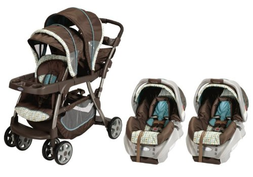 270108d43ca Graco Ready2Grow LX Baby Stoller   SnugRide Car Seat Twin Travel System -  Oasis