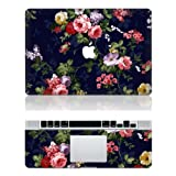Flower Macbook Decals Macbook Top Decal Front Sticker Macbook Cover Skin for Apple Macbook 11 13 15 Inch
