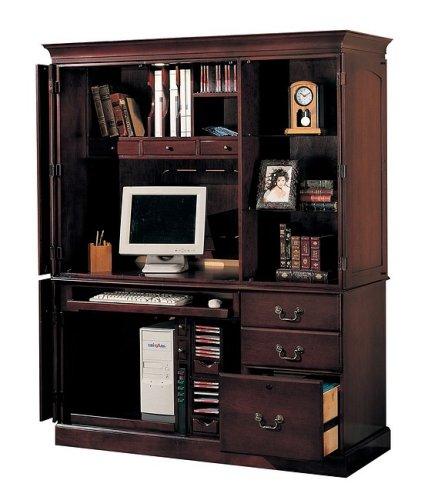 Buy Low Price Comfortable Dark Cherry Finish Wood Computer