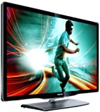 Philips 40PFL8606K/02 102 cm (40 Zoll) Ambilight 3D LED-Backlight-Fernseher, Energieeffizienzklasse A (Full-HD, 3D MAX, 800Hz PMR, DVB-T/C/S, Smart TV) schwarz mit Glasfront