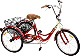 """Komodo Cycling 24"""", 6-speed Adult Tricycle #7002"""