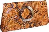 Lack-Clutch mit Reptilprägung 31x16x1cm