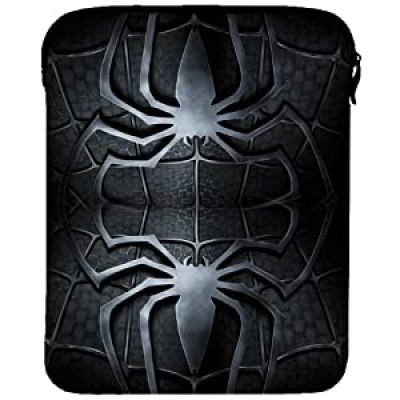 Cool black and grey double spider Spiderman zipper bag case for ipad tablet at amazon