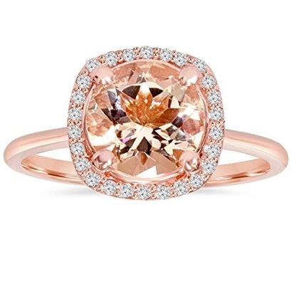 1-34-CT-Morganite-Diamond-Cushion-Halo-14K-Rose-Gold-Ring