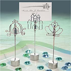 Placecard Holders Cinderella Style (3 sets of 12 per order) Wedding Favors