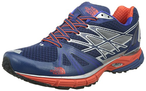 The North Face Ultra Equity Trail Running Shoe - Men's Estate Blue/Valencia Orange 9