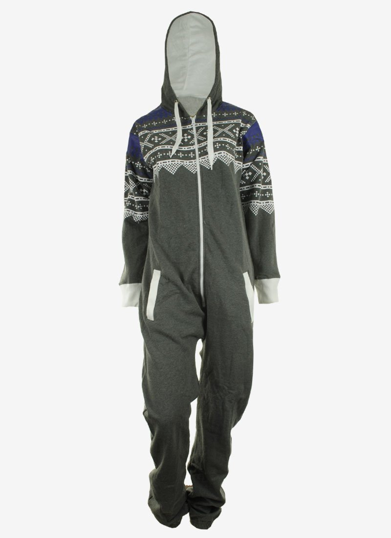 GG Women's Luzia Adult Mens Unisex Print Ladies Hoody Jumpsuit Onesie