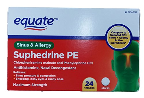 ... Sinus and Allergy 24ct Tablets Compare to Sudafed PE Sinus + Allergy
