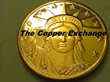 20 One Ounce .999 Pure Copper Bullion Coins Statue of Liberty