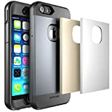 iPhone 6 Plus Case, SUPCASE Water Resist Heavy Duty Case with Built-in Screen Protector for Apple iPhone 6 Plus (5.5 inch), Includes 3 Interchangeble Cover (Space Gray/Silver/Gold)