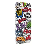Okeler White Mystery Funny Cartoon Colorful Word Skin Case Cover for Apple iPhone 5C with Free Pen