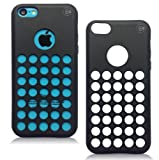 iPhone 5C Cases - iPhone 5C Soft Skin Case For The New iPhone 5C - Circle Colors - Dots Holes - Shell - Skin Cover By Cable and Case - Black