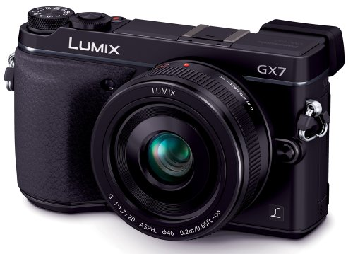 Panasonic ミラーレス一眼カメラ ルミックス GX7 レンズキット 単焦点レンズ付属 ブラック DMC-GX7C-K