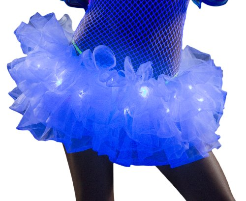 J. Valentine Women's White Light-Up Tutu