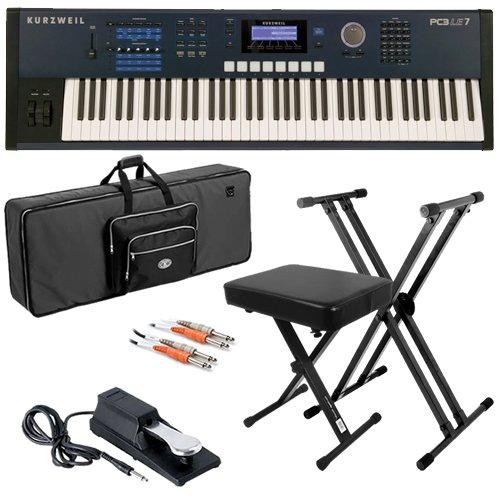 Kurzweil PC3LE7 Keyboard BUNDLE w/ Case, Stand, Bench & Pedal