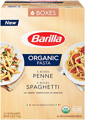 Barilla Organic Pasta, Spaghetti & Penne, 16 Ounce (Pack of 6)