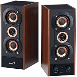 Genius 3-Way Hi-Fi Wood Speakers for PC, MP3 players, and Tablets (SP-HF800A)