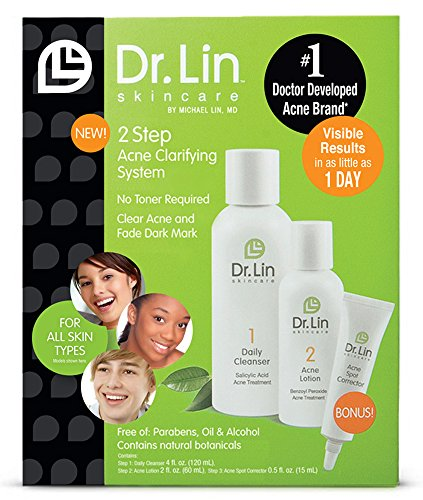 Dr. Lin Skincare 2 Step Acne Clarifying System, 3 Count