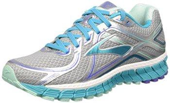 Brooks Women's Adrenaline Gts 16 Silver/Bluebird/Bluetint Running Shoe 8.5 Women US