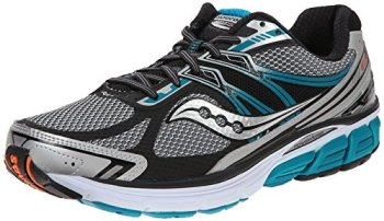 Saucony Men's Omni 14 Running Shoe, Silver/Blue,11.5 M US