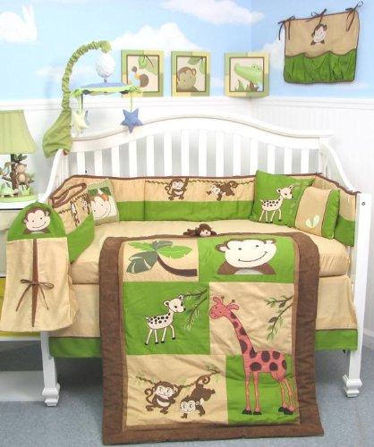 Fun And Colorful Boys Monkey Crib Bedding Amp Decor