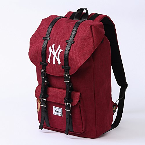 (ニューヨークヤンキース) NEW YORK YANKEES リュック おしゃれ バックパック リュックサック デイパック 4color Free ワイン 51z2qOUYouL