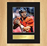 Peyton Manning Signed Mounted Photo Display Denver Broncos by My Prints [並行輸入品]