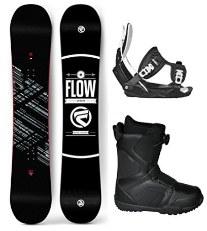 Flow 2017 Gap Men's Complete Snowboard Package Flow Bindings Flow BOA Boots - Board Size 151 (Boot Size 10)