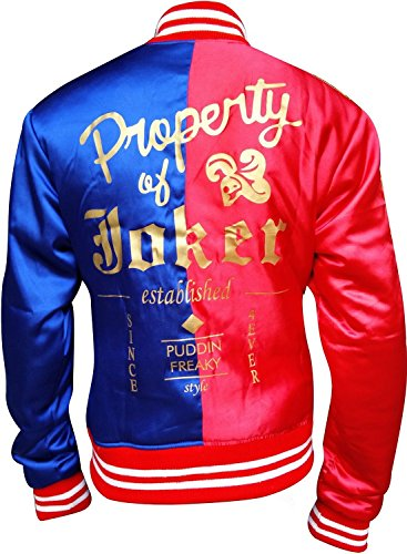 Harley Quinn Jacket Red & Blue Suicide Squad Costume (Medium)