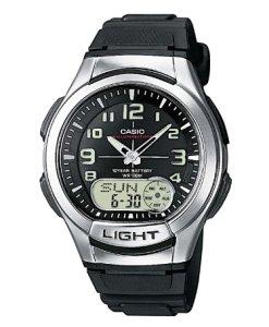 Casio AQ-180W-1BVES - Reloj analógico y digital de cuarzo para hombre con correa de resina, color negro [Importado]