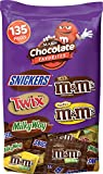Mars Chocolate Halloween Candy Variety Mix (Snickers, Twix, Milky Way, and M&M's), 135 Pieces