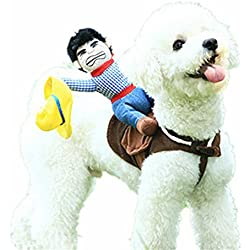 Dog Costumes Pet Costume Pet Suit Cowboy Rider Style by DELIFUR (Small)