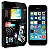 iPhone 5S Screen Protector, Spigen® iPhone 5S / 5C / 5 Screen Protector Glass [GLAS.tR NANO SLIM] (0.23mm) Thin Lightweight Rounded Edge Tempered Glass Screen Protector Clear for iPhone 5S / 5 (SGP10512)