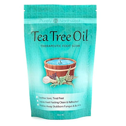 Tea Tree Oil Foot Soak With Epsom Salt, Helps Treat Nail Fungus , Athletes Foot & Stubborn Foot Odor 16oz