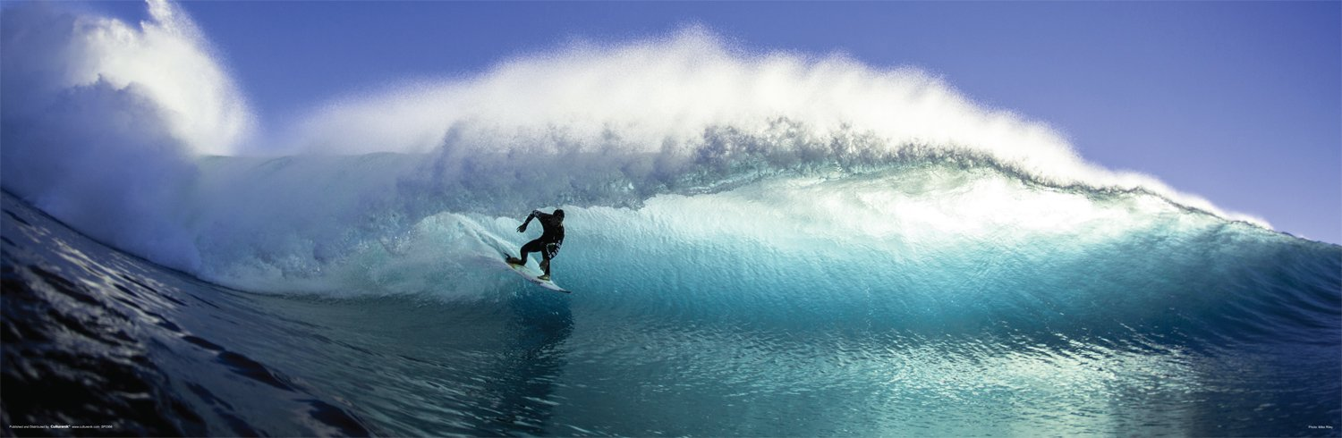 Surfer on the Wave Surfing Decorative Summer Water Sports Poster Print