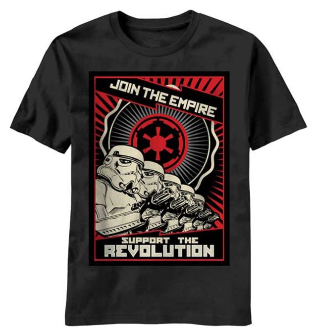 Star Wars Join the Empire Support the Revolution T-Shirt