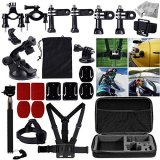 MCOCEAN-33-in-1-Accessories-Set-for-GoPro-Hero-4-3-Plus-3-2-and-Camera-Telescoping-Handheld-Monopod-Plus-Chest-Harness-Plus-Head-Wrist-Strap-Plus-Suction-Cup