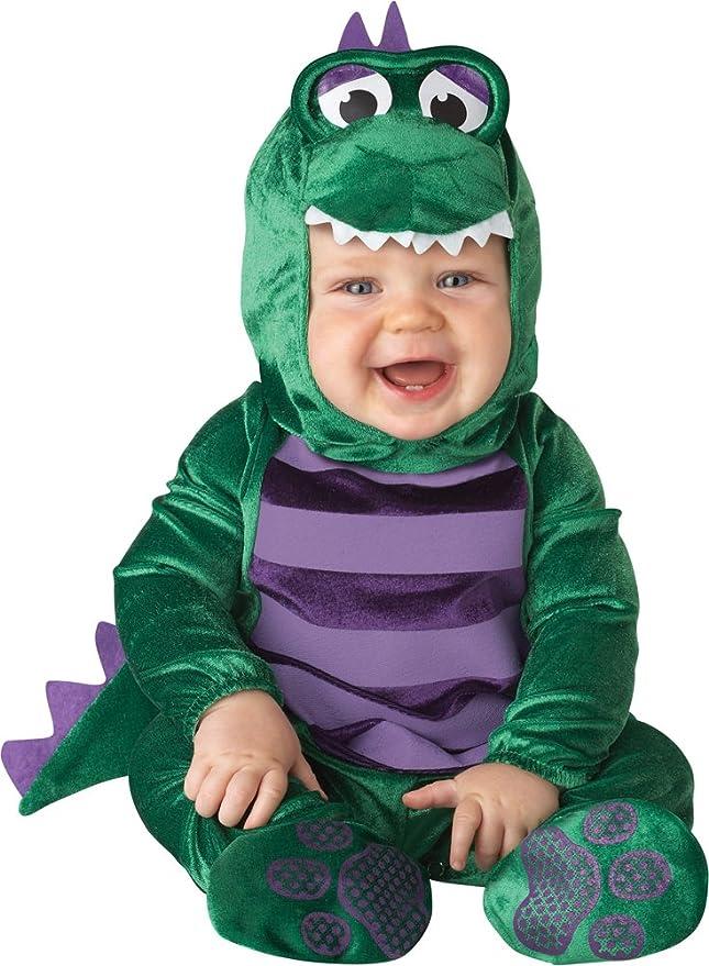 InCharacter Costumes Baby's Dinky Dino Dinosaur Costume, Green/Purple, Large