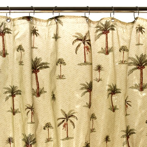interior design ideas small space gray shower curtains palm tree