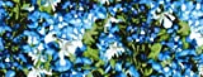 "44"" Wide State Flowers Texas Bluebonnets Blue/Green Fabric By The Yard"