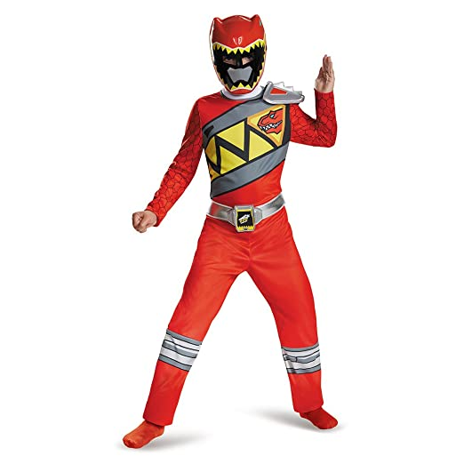 Disguise Red Ranger Dino Charge Classic Costume, Large (10-12)