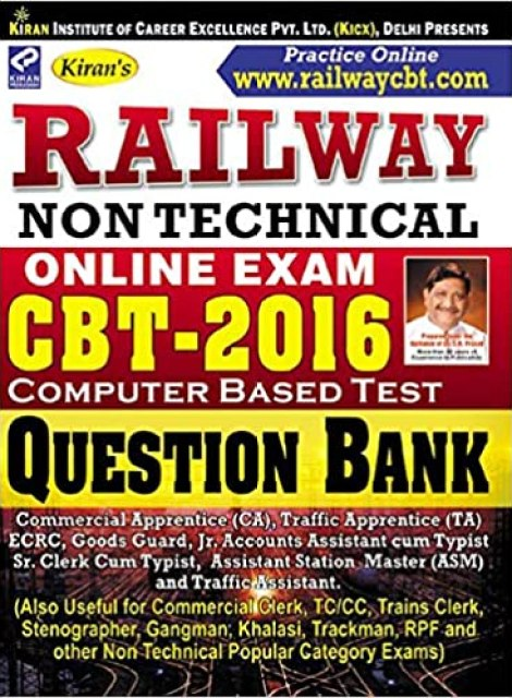 Free-Book: Kiran's Railway RRB NTPC Non Technical CBT Question Bank [PDF Download]
